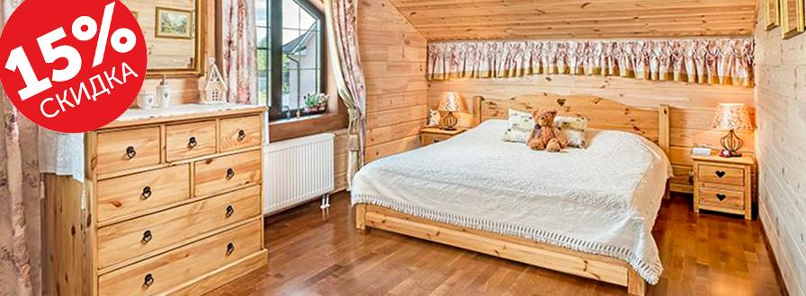 Мебель в спальню из сосны