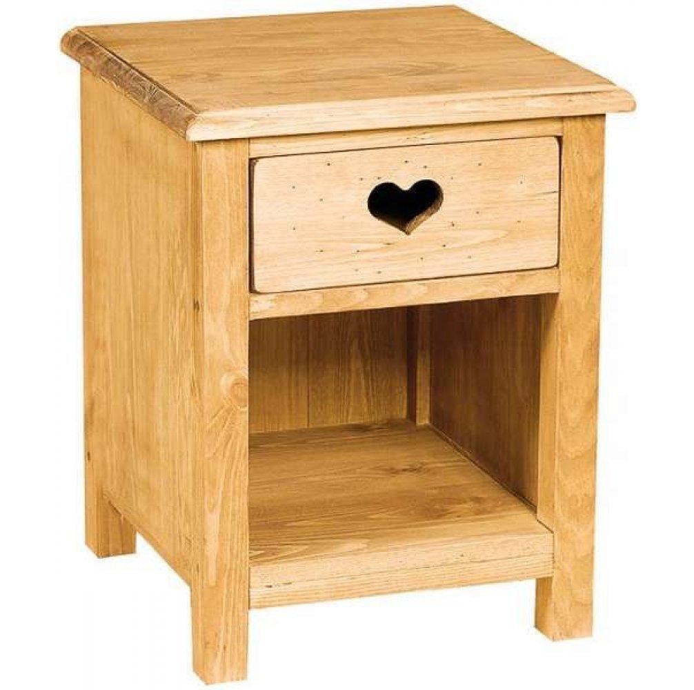Тумбочка прикроватная 1 ящик с сердцем с нишей