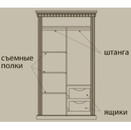 "Шкаф ""Грация-11"" (ОТ)"
